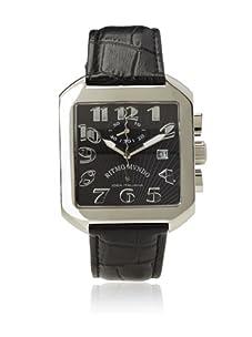 Ritmo Mundo Unisex 608/1 Black Classic Quartz Chronograph Watch