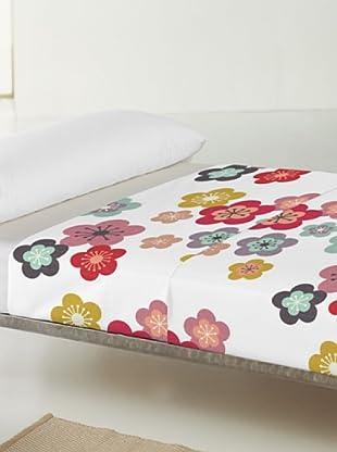 Little W Juego de Sábanas 2 piezas Blossom (Multicolor)