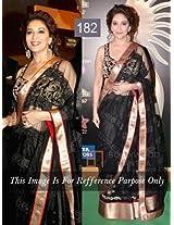 bollywood replica Madhuri Dixit Black Saree Stills At IIFA Awards 2013