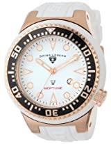 Swiss Legend Men's 21818D-RG-02-BLK Neptune Collection Rose Gold Ion-Plated White Rubber Watch