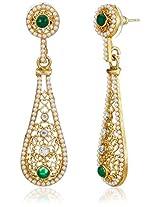 Ava Traditional Drop Earrings for Women (Golden) (E-VS-1883)