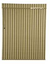 Art Wood Roll Up Blinds- Bamboo Cream (4ft Width X 5ft Height)