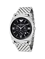 Emporio Armani Men's AR0314 Chronograph Charcoal Grey Dial Stainless Steel Watch