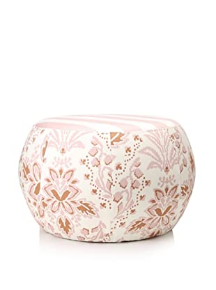 Image by Charlie Taupe Ottoman, Peachskin/Off-White