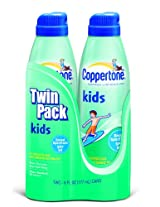 Coppertone Kids Continuous Spray, SPF 50, Twinpack, 6-Ounce Bottles