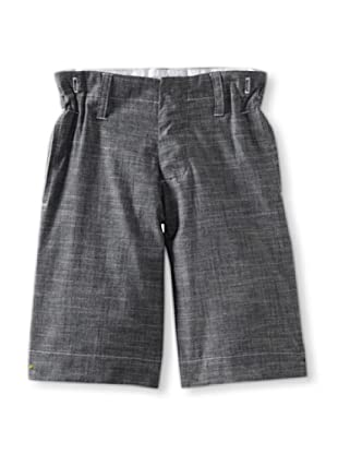 Blu Pony Vintage Boy's Classic Long Shorts (Washed Denim)