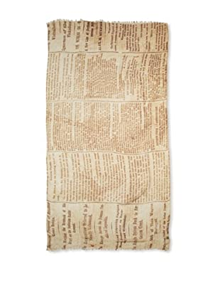 CHIC Women's Newspaper Digital Woven Viscose Scarf, Newsprint, One Size