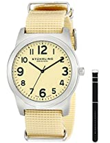 Stuhrling Original Aviator Analog Champagne Dial Men's Watch - 409.SET.01