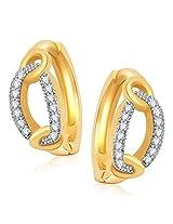 Meenaz Earrings Bali Fancy Silver Plated For Girls And Women In American Diamond B158