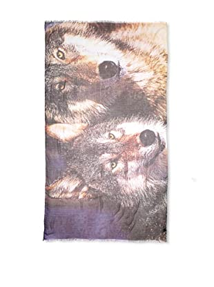 CHIC Women's Wolves Digital Woven Viscose Scarf, Multi, One Size