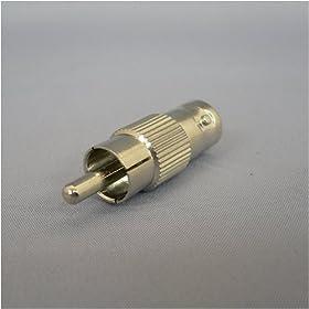 【クリックで詳細表示】F-FACTORY BNCプラグを⇒ピン(RCA)プラグに変換! 変換プラグ AD412-1P: 家電・カメラ