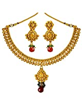 Surat Diamonds Gold Plated Copper Fine Designer Fashion Jewellery Set for Wedding / Engagement for Women (PS309)