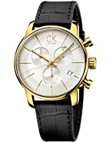 Calvin Klein Ck City Leather Chronograph Mens Watch K2G275C6