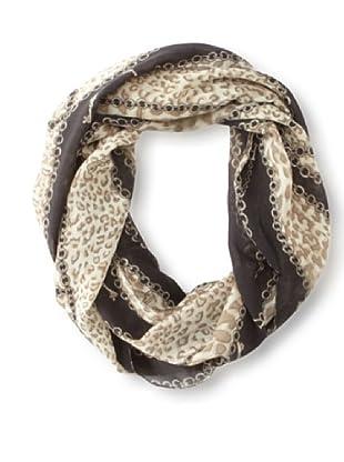 Raj Imports Women's Chain Infinity Scarf (Black)