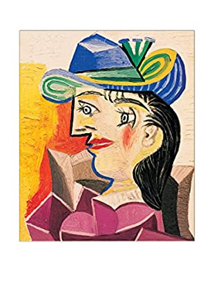 Artopweb Panel Decorativo Picasso Woman With a Blue Hat 63x53 cm