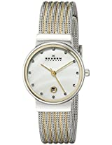 Skagen Analog Mother of Pearl Dial Women's Watch 355SSGS