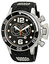 Invicta Men's 6915 Corduba Collection Interceptor Chronograph Black Polyurethane Watch