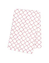Trend Lab Coral Quatrefoil Deluxe Flannel Swaddle Blanket By Trend Lab