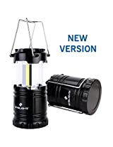 2016 2nd Generation, BYB Super Bright Portable COB LED Camping Lantern, Collapsible Emergency Flashlight for Preserving Your Night Vision, Lightweight and Water Resistant