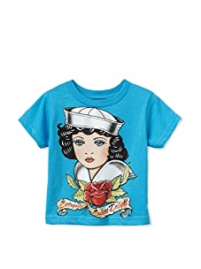 Born 4 Couture Boy's Every Nite Sailors Delight Short Sleeve T-Shirt (Blue)
