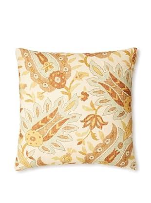 The Pillow Collection Gafsa Paisley Decorative Pillow, Aqua/Brown, 18