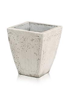 Barreveld International Concrete Square Planter, White