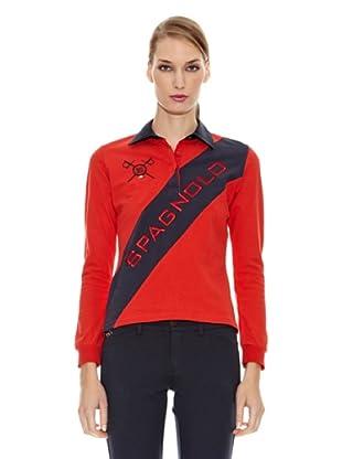 Spagnolo Polo Punto Doble Blount (Rojo)