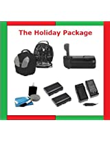 Holiday GIFT Package: Vivitar Delux Power Grip for Nikon D300/d700+waterprrof Camera Bag (BACK PACK)+2 Enel3e High Capacity Batteries (LONG LIFE)+Rapid Mini charger+DIGI Pro cleaning Kit