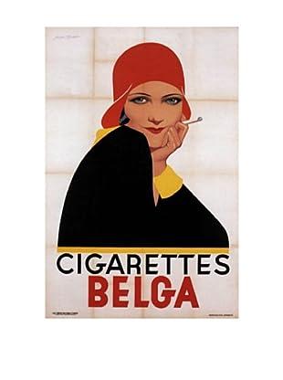 Cigarettes Belga Redhat Giclée Canvas Print