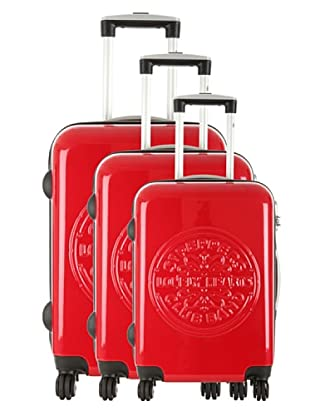Les Beatles by Platinium Set 3 Trolleys 4 Ruedas Lonely (Rojo)