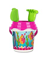 Stephen Joseph Beach Bucket Fish/Sea Horse, Multi Color