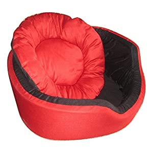 Jerrys Super Soft Dual (Red-Black) Colour Round Dog/Cat Bed - Large (BUY FROM JERRY'S ONLY)