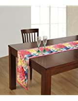 Handmade Table Runner Digitally Printed Reversible Polyester -13x72 Inch,Floral