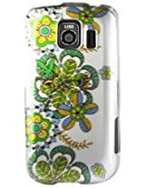 LG 2D Protector Cover for LG Optimus S LS670 PB11 - Retail Packaging - White/Green/Yellow/Blue
