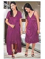 Indiatrendzs Women's Sexy Hot Nighty 2pc Set Bedroom Sleepwear Freesize