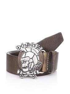 Diesel Men's Skullbuk Belt (Light Brown)