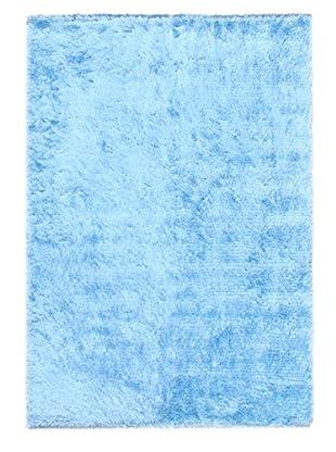 Hand-Knotted Casablanca Retro Shag, Light Blue, 5' 7