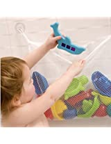 "Bath Tub Toy Organizer|Mesh Bag|Fast Drying Powerful Large Suction Cups 13.78""X17.72"""