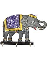 Briju Dinesh Enterprises Paper Machie Elephant Key Holder (20.3 cm x 13.3 cm x 4.4 cm)