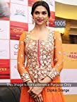 bollywood replica Deepika Padukone Orange Anarkali Suit At Promotes Ramleela