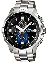 Casio Edifice Chronograph Black Dial Men's Watch - EFM-502D-1AVDF (EX091)