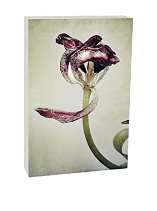 Art Block Purple Petals - Fine Art Photography On Lacquered Wood Blocks