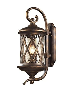 Elk 42032/3 3-Light Outdoor Sconce In Hazelnut Bronze and Designer Water Glass