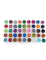 Attractive 45 Mixed Colors Shimmer Acrylic Metal Glitter Dust Uv Powder Nail Art Tips Decoration Stamp Diy Manicure Set
