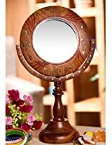 Fancy Unique & beautiful wooden foldable mirror with brass work