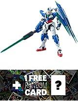 Gnt 0000 00 Qan[T]: Mg Gundam Master Grade 1/100 Model Kit + 1 Free Official Gundam Japanese Trading Card Bundle