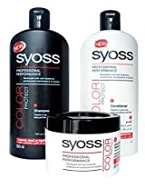 Syoss By Schwarzkopf Pro-Cellium Keratin COLOR Protect Shampoo 500 mL+Conditioner 500 mL+Mask 200 mL