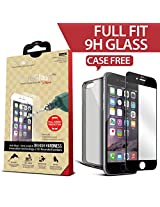 Icarez Full Fit Tempered Glass Highest Quality Screen Protector For Iphone 6 Plus - Black