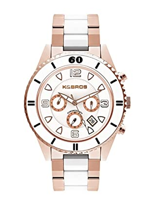 K&BROS 9136-4 / Reloj Unisex  con brazalete metálico Blanco