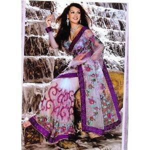 Heavy Designer Partywear Saree By Aakriti
